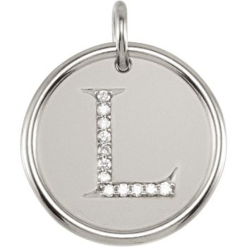 Diamond initial necklace l picture of initial l roxy diamond pendant aloadofball Gallery