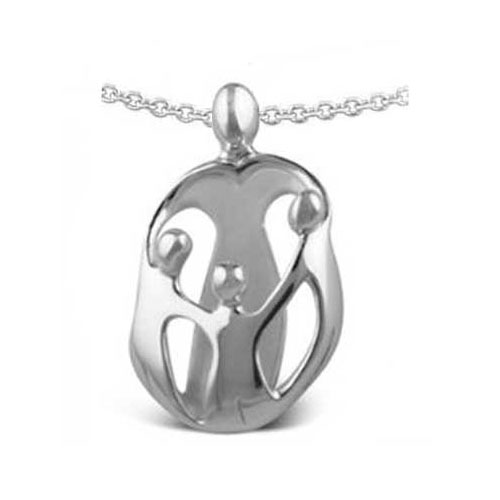 Loving family jewelry picture of large mother and three children pendant aloadofball Images