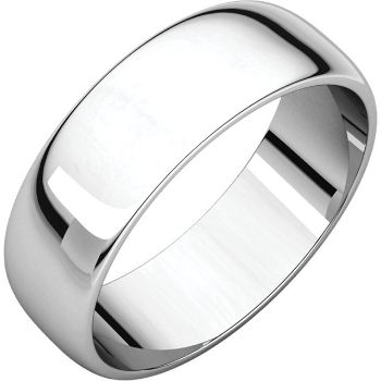 Picture of 14K Gold 6 mm Half Round Light Band