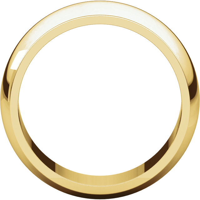 Picture of 14K Gold 8 mm Half Round Edge Band