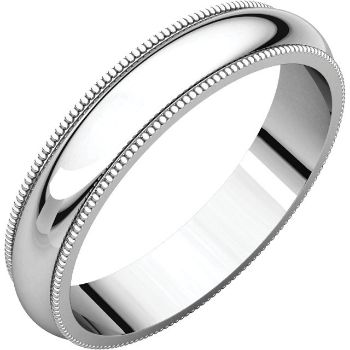 Picture Of 14k Gold 4 Mm Milgrain Wedding Band
