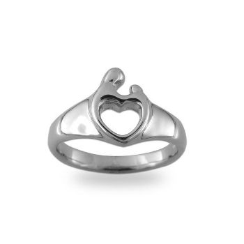one stones ring diamond love knot child and rings family mothers with for genuine birthstone
