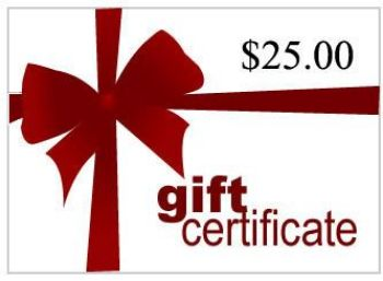 Picture of Gift Certificate For $25