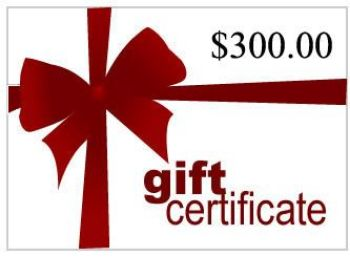 Picture of Gift Certificate for $300